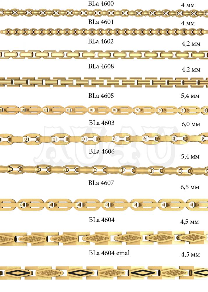 Образцы плетений золотом